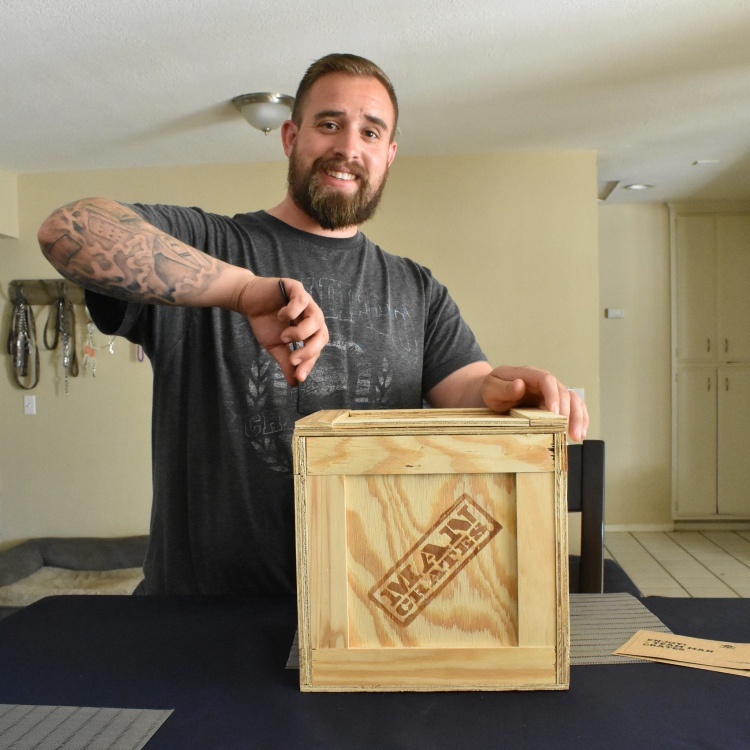 troutdoorsman man crate